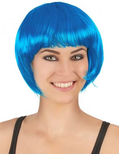 Hellblaue Perücke für Damen
