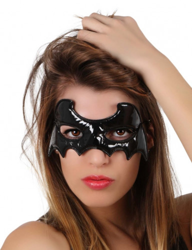 Maske schwarze Fledermaus Halloween