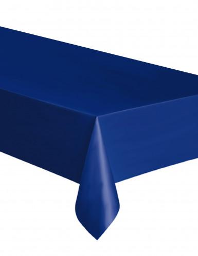 Leuchtend marineblaue Kunststofftischdecke 137 x 274 cm