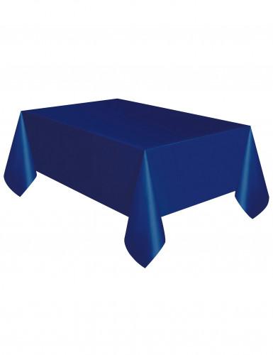 Leuchtend marineblaue Kunststofftischdecke 137 x 274 cm-1