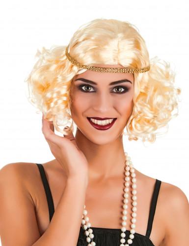 Blonde Charleston-Perücke für Frauen