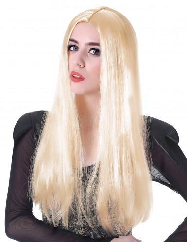 Perücke lang blond - 60cm