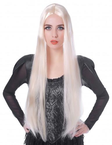 Damen-Perücke lang weissblond 75cm