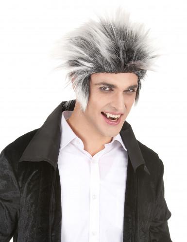 Schwarzweiße Kurzhaar Perücke für Männer