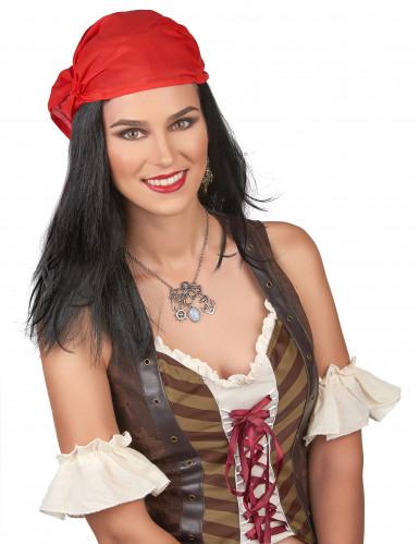 Piraten-Perücke mit Kopftuch