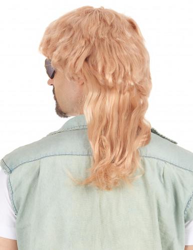 Blonde Vokuhila-Perücke für Männer-1