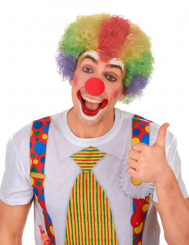 Kunterbunte Clowns-Perücke für Erwachsene-1