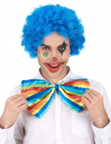 Blaue Afroperücke, passend zum Clown-1
