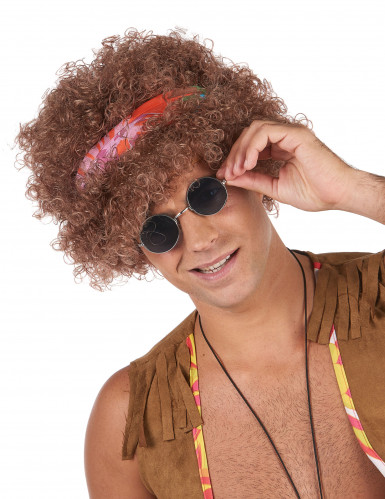 Afro Perücke Hippie - Mann