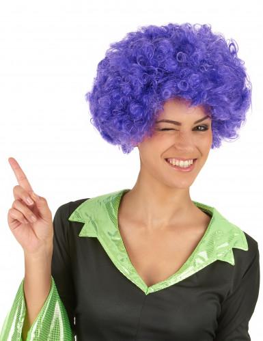 Lila Afro Perücke für die Frau - 140 Gramm-1