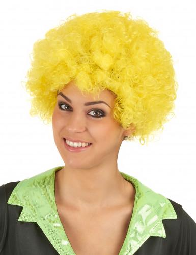 Gelbe, gelockte Clownperücke-1