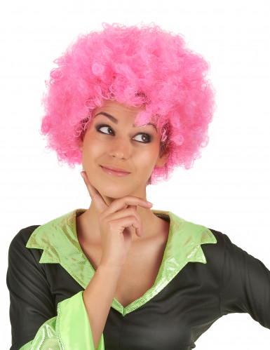 Rosa Afro Perücke für die Frau - 140 Gramm-3