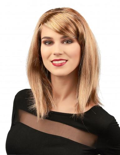 Perücke Glamour blond für Frauen