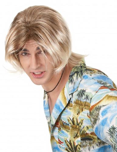 Blonde Surfer Perücke für Männer