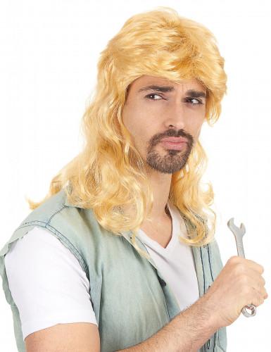 Vokuhila-Perücke blond für Herren