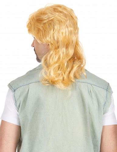 Vokuhila-Perücke blond für Herren-1