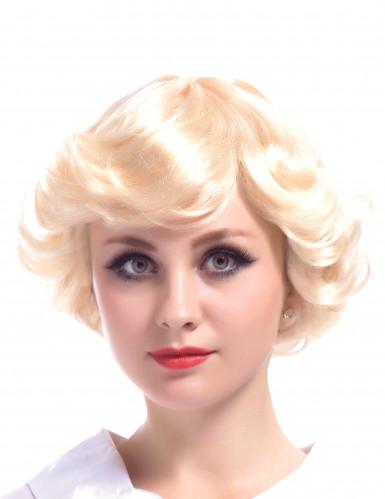 Blonde Vintage-Perrücke für Damen