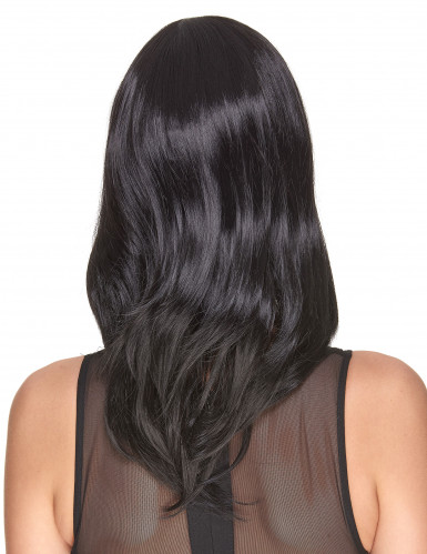 Deluxe Perücke mit schwarzem mittellangem Haar für Frauen - 170g-1
