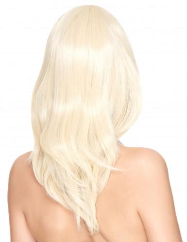 Blonde mittellange Perücke Luxus für Damen-1
