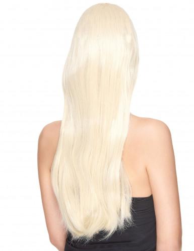 Luxus Perücke mit sehr langen blonden Haaren für Frauen-1