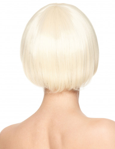 Kurze blonde Perücke Damen-1