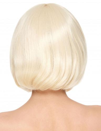 Blonde Kurzhaar Perücke im Bob-Stil mit Pony-1