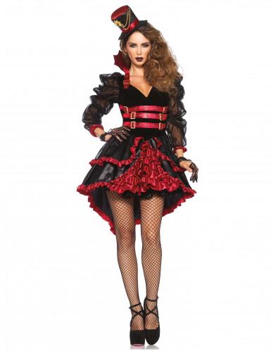 Kostüm sexy Vampir mit Rüschen für Damen