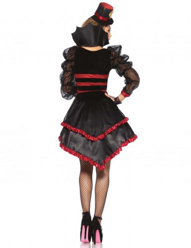 Kostüm sexy Vampir mit Rüschen für Damen-3