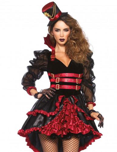Kostüm sexy Vampir mit Rüschen für Damen-2