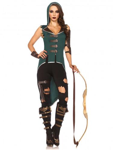 Kostüm eines Rebellen der Wälder für Frauen