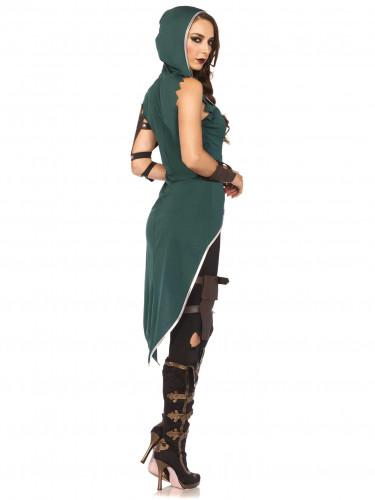 Kostüm eines Rebellen der Wälder für Frauen-2