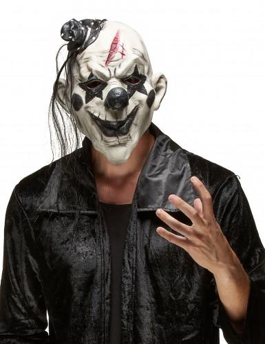 Böser Clown Halloween Maske für Erwachsene