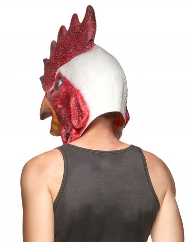 Latex Hahnenmaske für Erwachsene-1