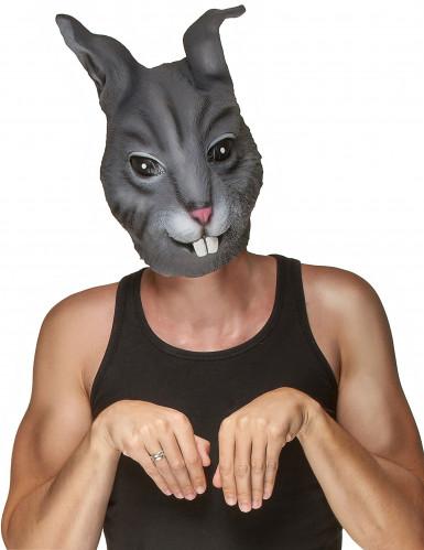 Realistisch wirkende Kaninchenmaske für Erwachsene