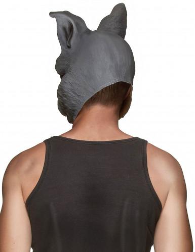Realistisch wirkende Kaninchenmaske für Erwachsene-1
