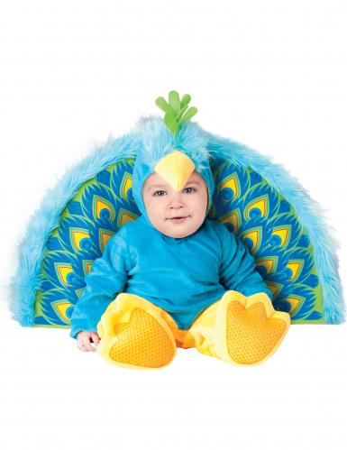 Pfauenkostüm für Babys in Blau - Premium