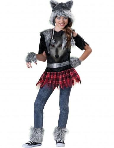Premium Wolf-Kostüm für Mädchen