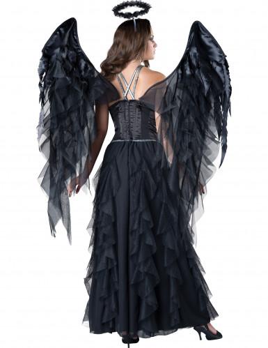 Hochwertiges Schwarzer Engel Kostüm-1