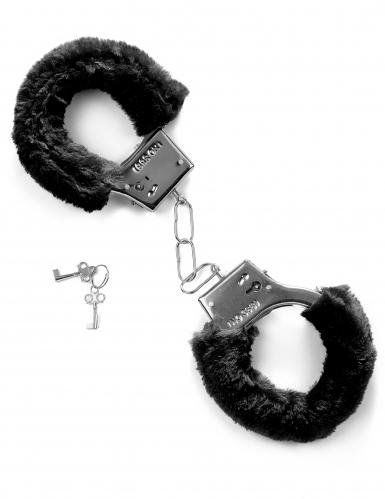 Schwarze Handschellen