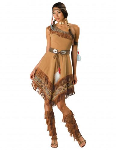 Indianer-Kostüm für Damen - Deluxe