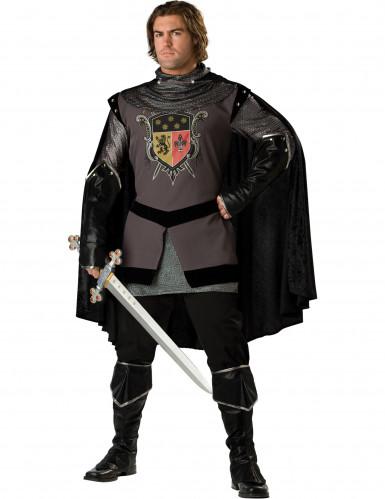 Schwarzer Ritter-Kostüm für Herren - Deluxe