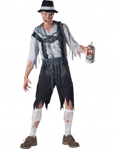 Bayerischer Zombie-Kostüm für Herren - Deluxe