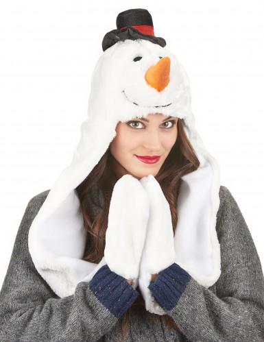 Schneemann Mütze für Erwachsene