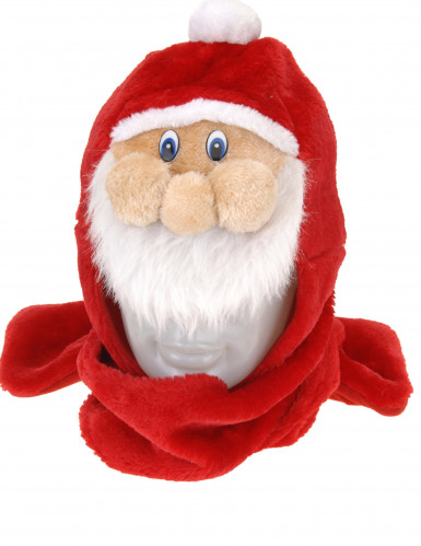 Weihnachtsmann Mütze mit Schal