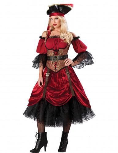 Deluxe Piraten Kostüm für Damen