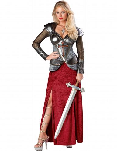 Jeanne d'Arc-Kostüm für Damen - Deluxe