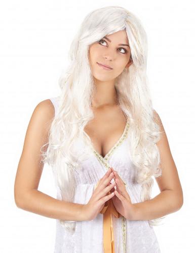 Engel-Perücke mit langen goldfäden für Damen
