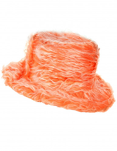 Oranger Plüsch-Hut für Erwachsene
