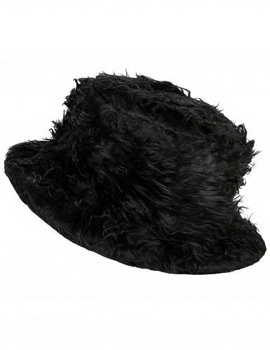 Schwarzer Plüsch-Hut für Erwachsene