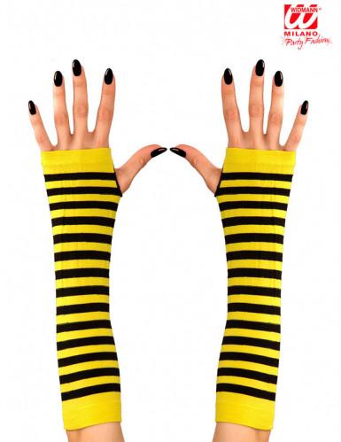 Lange Stulpen Biene-1